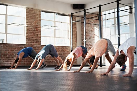 yoga class crop